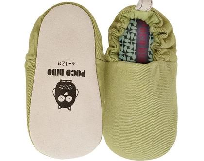 נעלי טרום הליכה | נעליים רכות לתינוק | מיני שוז | ירוק זית