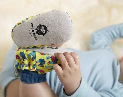נעלי טרום הליכה | נעליים רכות לתינוק | מיני שוז | תרנגולים