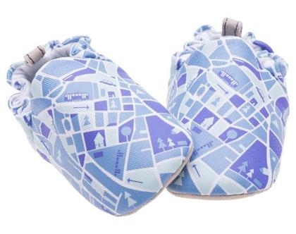 נעלי טרום הליכה | נעליים רכות לתינוק | מיני שוז | עיר כחולה