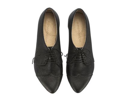 נעלי אוקספורד שחורות- דגם פולי ג'ין שחורות