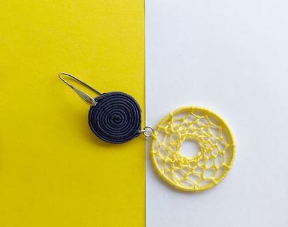 עגילים צהובים עגולים מסוטאז׳