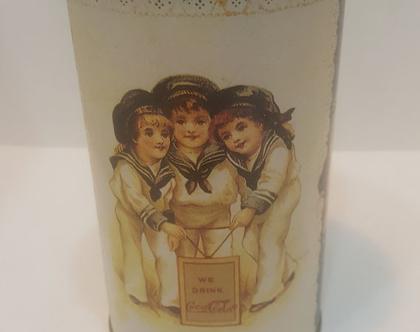 קופסת פח קוקה קולה חתומה