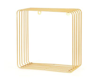 מדף נישה רשת ברזל זהב מרובע