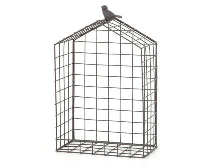 מדף נישה רשת ברזל בית ציפור שחור