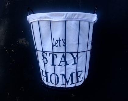 סל כביסה מברזל - let's stay home