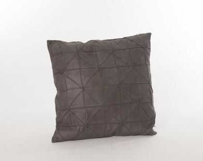 כרית גאומטרית דקורטיבית אפור כהה