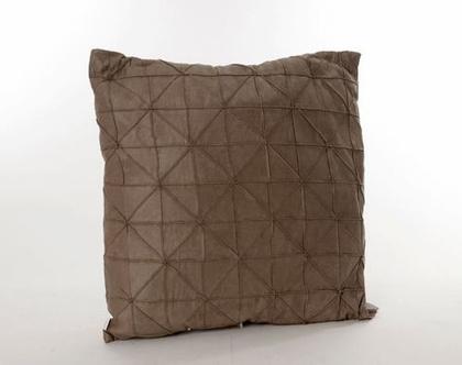 כרית גאומטרית דקורטיבית חום