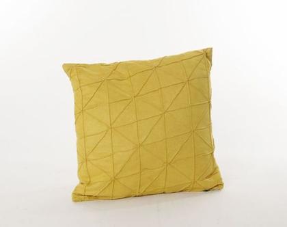 כרית גאומטרית דקורטיבית צהוב