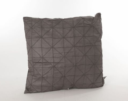 כרית גאומטרית דקורטיבית אפור בהיר