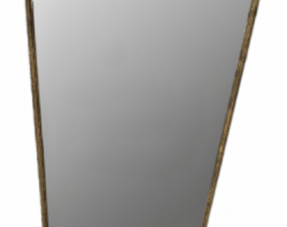 מראת גוף מעוצבת - שחור/זהב - 1