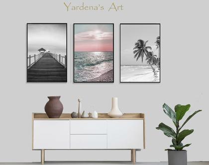 סט תמונות אבסטרקט - Ocean Art -6 | סט תמונות בעיצוב מינימליסטי |עיצוב מקורי | תמונות לעיצוב הבית | תמונות לעיצוב המשרד| תמונות לחדר השינה
