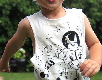 גופיית ילדים עם דפוס מפלצות