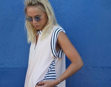 שמלת מיאמי ללא שרוול | ורוד ניוד