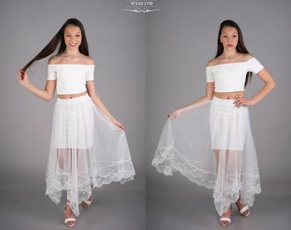 שמלת שני חלקים לבת מצווה של המעצבת שירן סבוראי