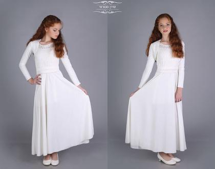 שמלת לואית לבת מצווה של המעצבת שירן סבוראי