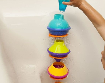 אזל!!! דריפדרופ - משחק אמבטיה נפלא המכיל 12 חלקים וכולל שקית רשת נוחה לאיחסון