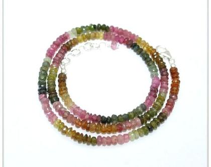 שרשרת אבני חן טורמלין tourmaline צבעונית שרשרת טורמלין אנרגטית מתנה מיוחדת לאשה