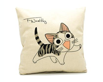 כרית נוי happy cat | כרית נוי | כרית נוי מעוצבת | כרית עם מילוי | כרית מעוצבת