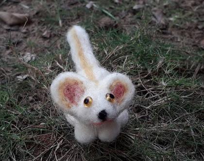 בובת עכבר - עבודת יד - צעצוע בליבוד מחט- בובת עכבר מחומרים טבעיים