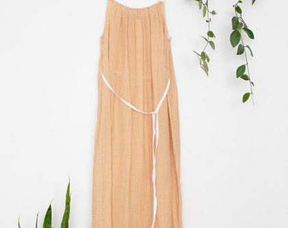שמלה כתומה כותנה אורגנית