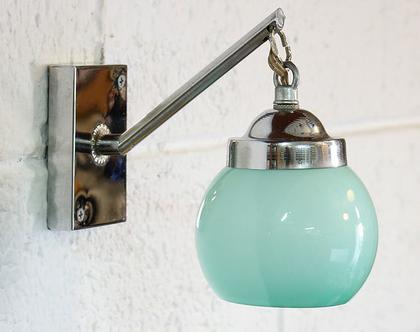 מנורת קיר וינטאג׳ טורקיזית