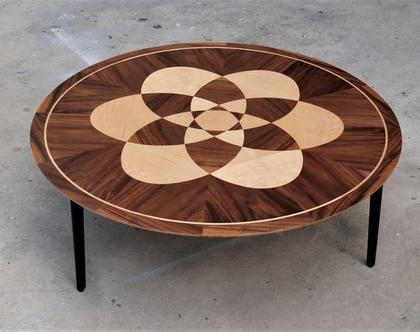 מנדלה מגן דוד - שולחן עגול לסלון
