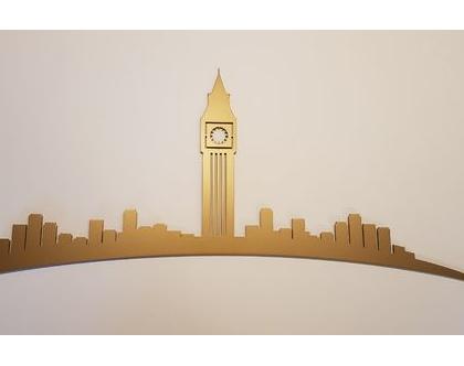 דקור Big Ben Londonבצבע זהב