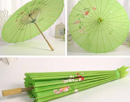 שמשיה סינית מעץ | שמשיה לשמש | שמשיה אישית |שמשיה פרחונית