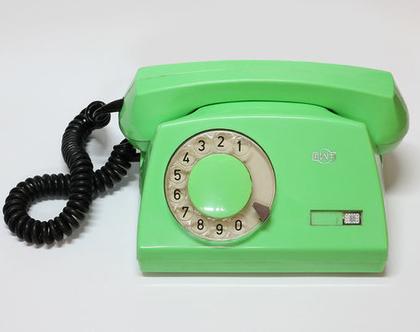 טלפון חוגה וינטאג׳ ירוק