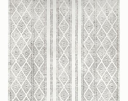 שטיח מעויינים נורדי עבה, שטיח סקנדינבי עבה, שטיח נורדי עבה