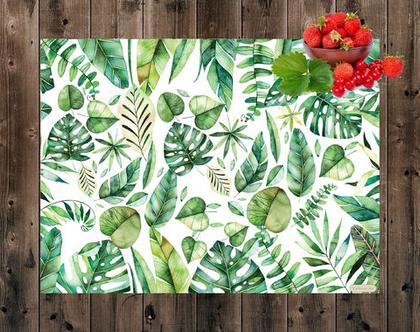 פלייסמט בעיצוב מקורי - | Botanical placemat | פלייסמט עלים ירוקים