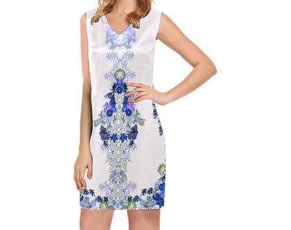 שמלה חגיגית קצרה ללא שרבול- בד פוליאסטר- מידה XS עד 3XL