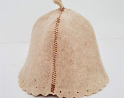 כובע לסאונה / כובע צמר/ כובע מצמר לסאונה