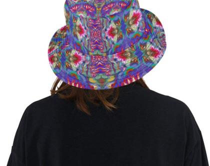 כובע יפה אפנתי ומקורי- דיזיין אומותי- כותנה פרמיום עבה- waterfall 3