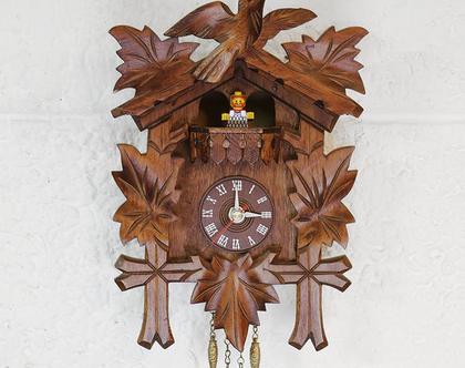 שעון קיר וינטאג׳ מעץ