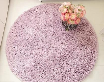 שטיח סגול לילך לחדר ילדים, שטיח מעוצב לחדר ילדים, שטיח עגול, שטיחים לילדים, שטיח לחדר ילדים