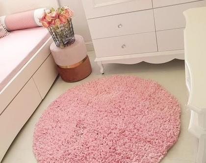 שטיח ורוד בייבי/שטיחים/ שטיחים סרוגים/ שטיח בעבודת יד/שטיח לחדר ילדים/ שטיחים עגולים