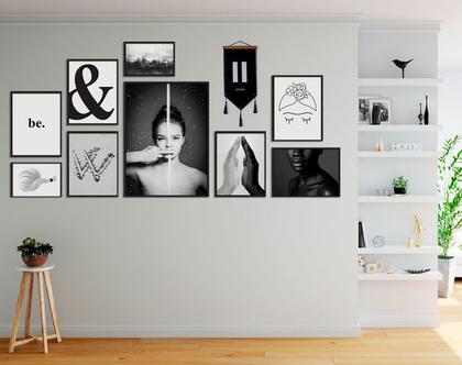 קולאז תמונות לקיר B&W