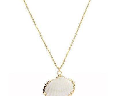 שרשרת גולדפילד בשילוב תליון צדף מיוחד מצופה זהב 24K | שרשרת גולדפילד | צדף | גולדפילד | תליון של צדף | ים | שרשרת ארוכה | מתנה לגבר