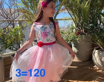 שמלה לארוע לילדה | שמלה חגיגית לילדה | שמלה מבריקה לילדה | שמלה נצנצים לילדה