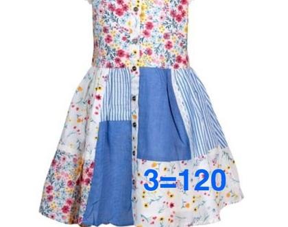 שמלה לילדה   שמלה פרחונית לילדה   שמלת טלאים לילדה   שמלה מסתובבת לילדה