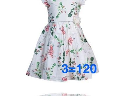 שמלת פרחים לילדה   שמלה חגיגית לילדה   עיטור בכתף וחגורה פרח חיצוני -לייני