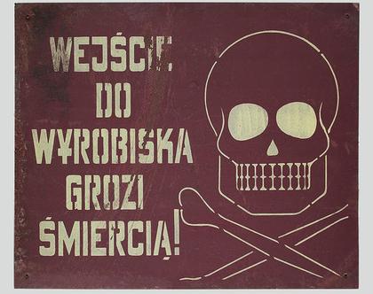שלט פח פולני גדול משנות החמישים, שלט פח וינטאג׳