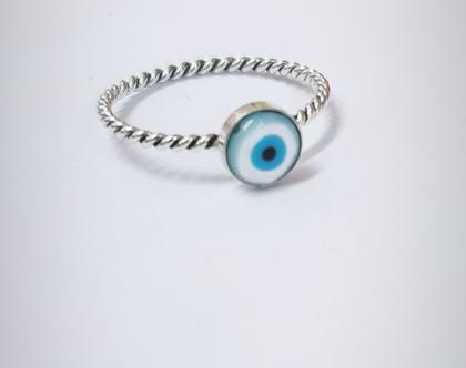 טבעת עין מעוצבת מכסף טהור 925 | שרשרת גולדפילד | צדף | גולדפילד | תליון של צדף | ים | שרשרת ארוכה | מתנה לגבר