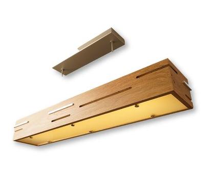 מנורת תקרה מעצבת מיוחדת אלון אירופאי ואלומיניום מלוטש
