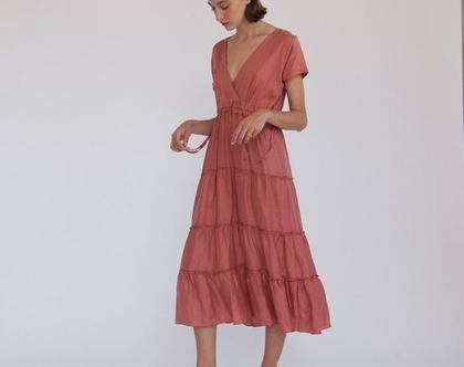 שמלת קומות - ורוד.