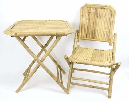 כיסא // שולחן במבוק