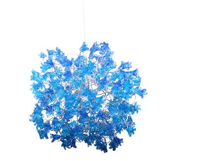גוף תאורה פרח קופצני כחול