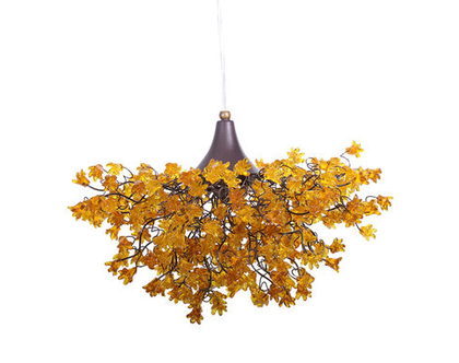 מנורת תקרה פרחים קופצני צהוב