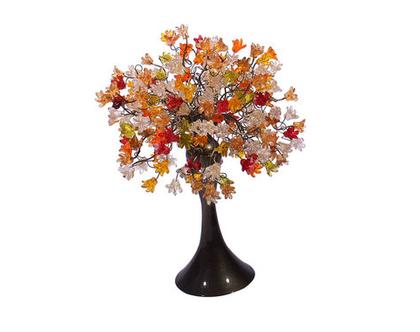 מנורת שידה פרחים קופצניים צבעים חמים
